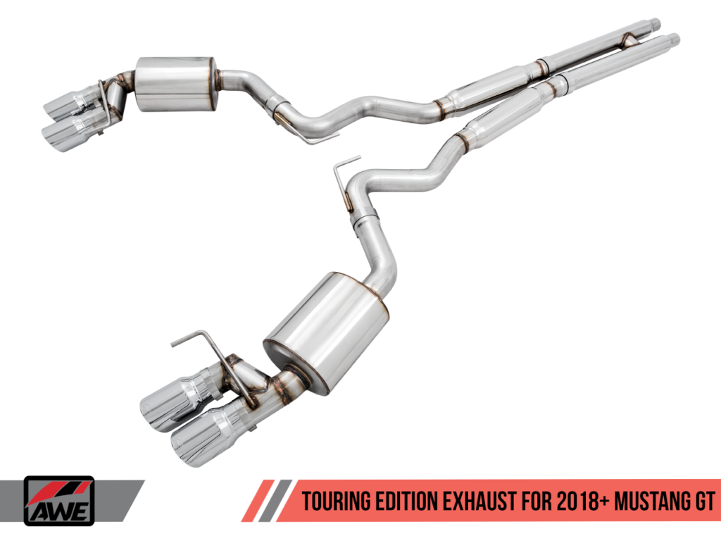 AWE Tuning 2018 Ford S550 Mustang Touring Exhaust - Cat-back