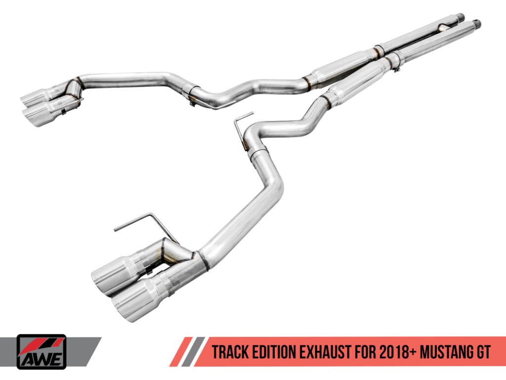 AWE Tuning 2018 Ford S550 Mustang Track Exhaust - Cat-back